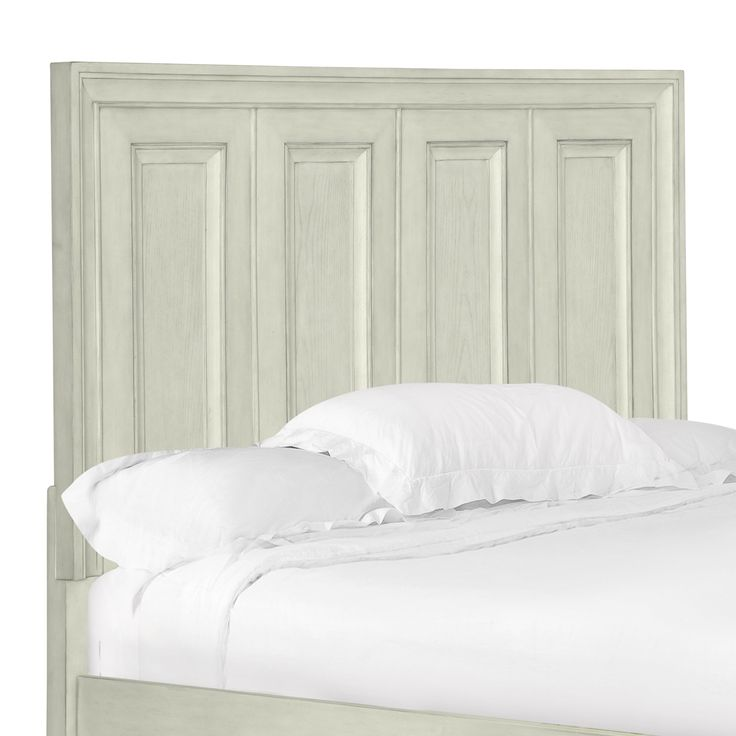 Magnussen Home Furnishings Raelynn Panel Bed Headboard in Weathered White
