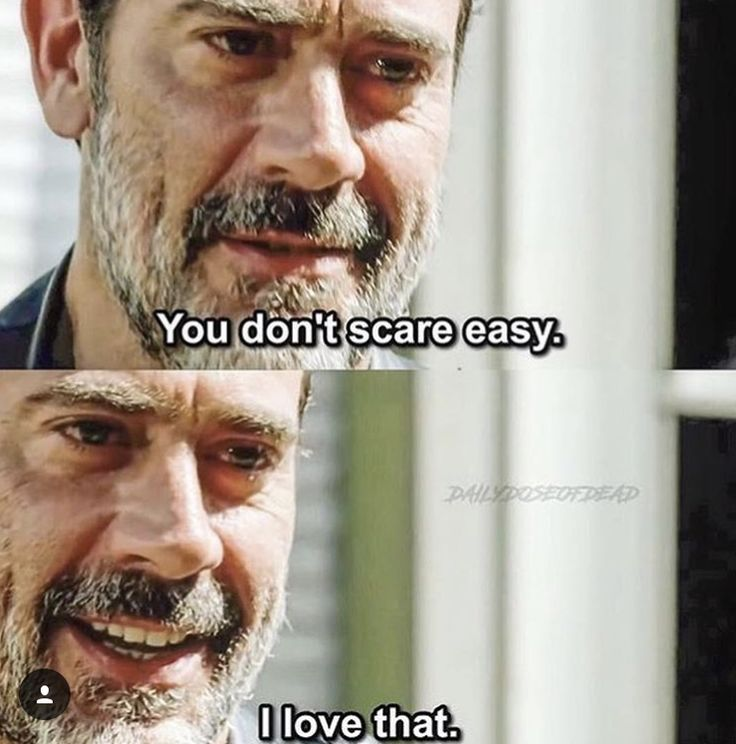 "The Walking Dead 7x03 ""The Cell""--- You don't scare easy. I love that."