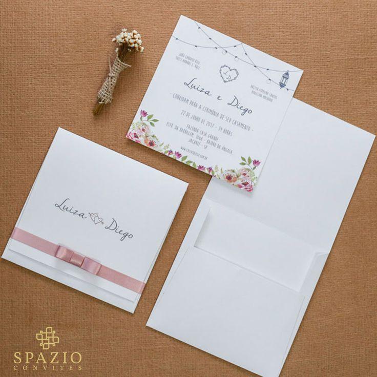 Convite de casamento com Festão, lampadas lindas dando um charme no convite de casamento, convites em diversas cores e modelos, layout criativo, confira!