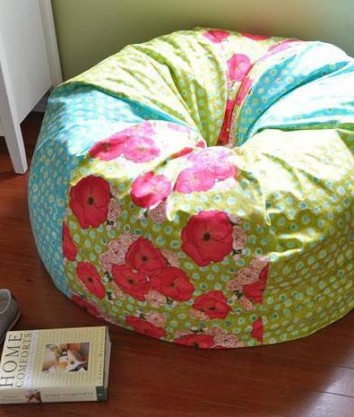 Adult & Children's Bean Bag Chairs ~ great for the reading nook @ Sew Can She | Free Daily Sewing Tutorials