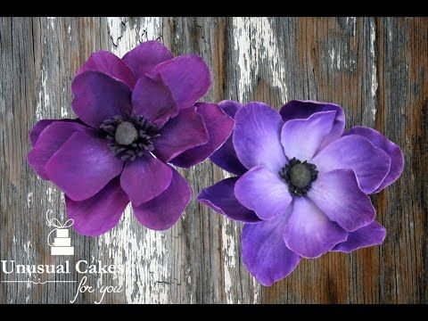How to make a Gumpaste Anemone Flower Tutorial - YouTube