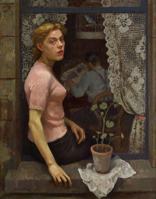 antipahtico: Woman in the Window ~ Alberto Morrocco 1953