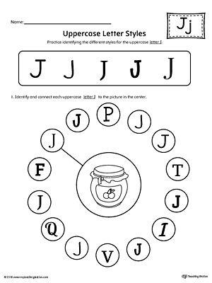 Letter J Worksheets Preschoolers Pinterest