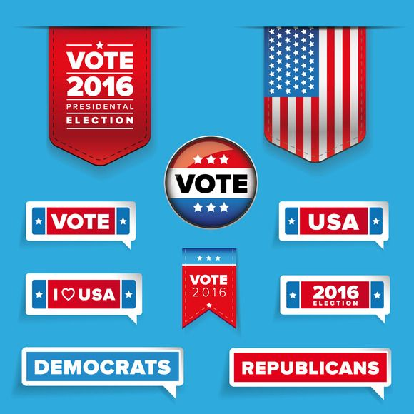Presidental election set vector by Lin´s on @creativemarket