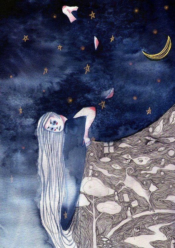 01 / Daniela Arias / Noche / from: La Vuelta al Mes en 30 Ilustradores