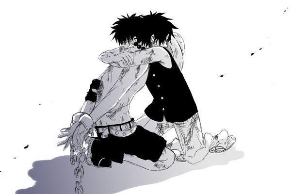 """ace luffy   Ace et Luffy. - """"Même si je porte en moi le sang d'un démon, merci à tous de m'avoir aimé !"""""""