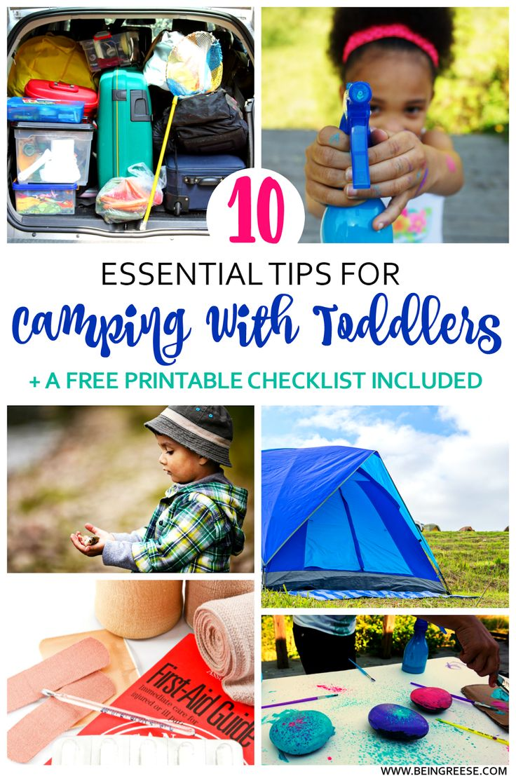 10 Tips for Camping With Toddlers+ A FREE printable