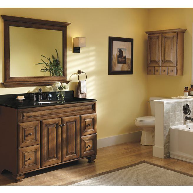 Charming Allen + Roth Ballantyne Mocha With Ebony Glaze Traditional Bathroom Vanity  | Loweu0027s Canada
