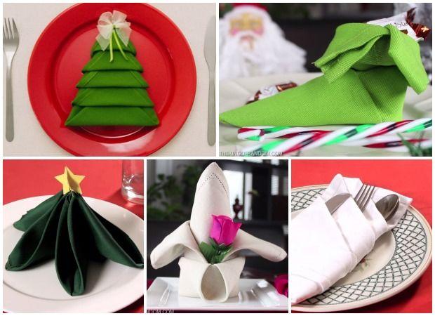 Christmas Napkin Folding Ideas - Holiday Table Setting Ideas - Good Housekeeping