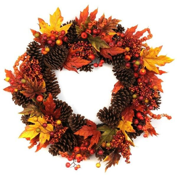 Fallen Autumn Wreath ($40) ❤ liked on Polyvore featuring home, home decor…