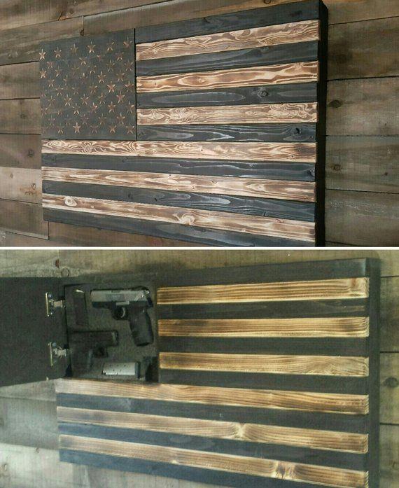 9f62b08ea258 Burnt Concealed Weapon Flag Cabinet Standard Size