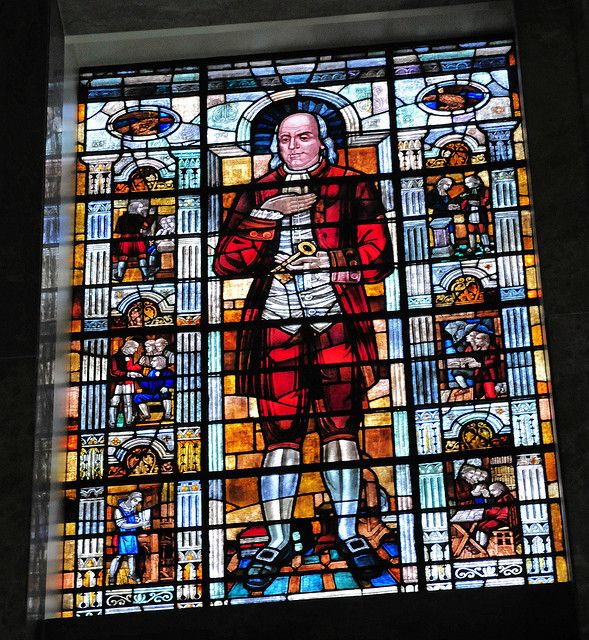 Benjamin Franklin Stained Glass window at George Washington Masonic Memorial by mbell1975, via Flickr