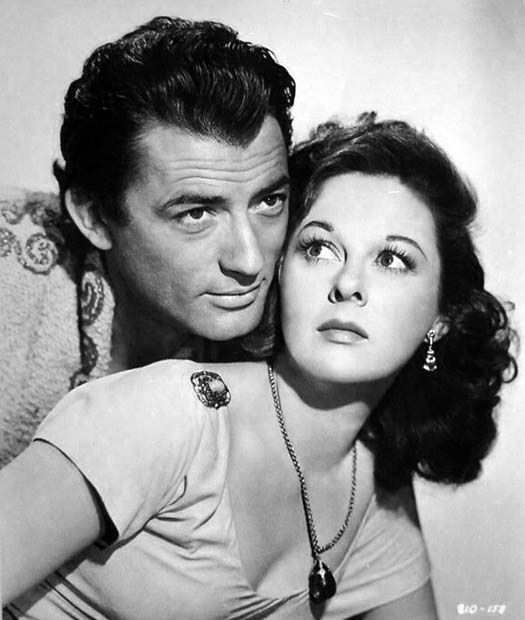 "DAVID AND BATHSHEBA (1952) - Gregory Peck as ""King David"" - Susan Hayward as his lover ""Bathsheba"" - Directed by Henry King - 20th Century-Fox - Publicity Still."