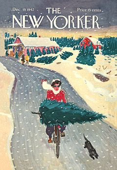 in so many words...: New Yorker Christmas Covers - Artist: Garrett Price