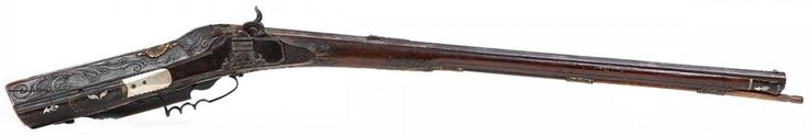 EX RARE ROYAL GERMAN WHEEL-LOCK SPORTING RIFLE CONVERTED TO PILL LOCK FOR KING LEOPOLD I OR LEOPOLD II EX RARE ROYAL GERMAN WHEEL-LOCK SPORTING RIFLE CONVERTED TO PILL LOCK FOR KING LEOPOLD I OR LEOPOLD II. An Extremely Rare Antique ROYAL German Wheel-Lock Sporting Rifle, circa. 1690-1720, Converted to 'PILL-LOCK', circa. 1815 (this technology only lasted 5-10 years). Made for King Leopold I (reigned from 1658-1705) or King Leopold II (reigned 1764-1790) of the Hapsburg/Lorraine Family…