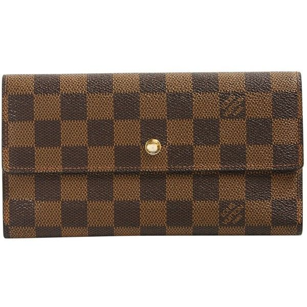 Pre-owned Louis Vuitton Cloth Clutch ($324) ❤ liked on Polyvore featuring bags, handbags, clutches, brown, louis vuitton clutches, louis vuitton, pre owned handbag, pre owned purses and louis vuitton pochette