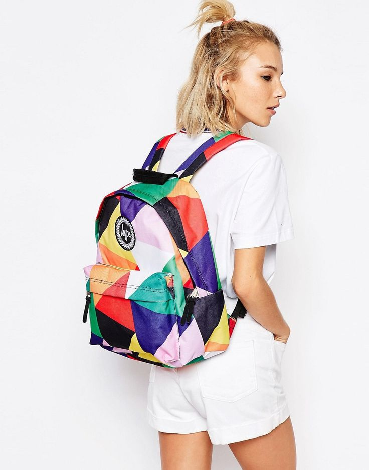Image 3 ofHype Geometric Multi-Coloured Backpack