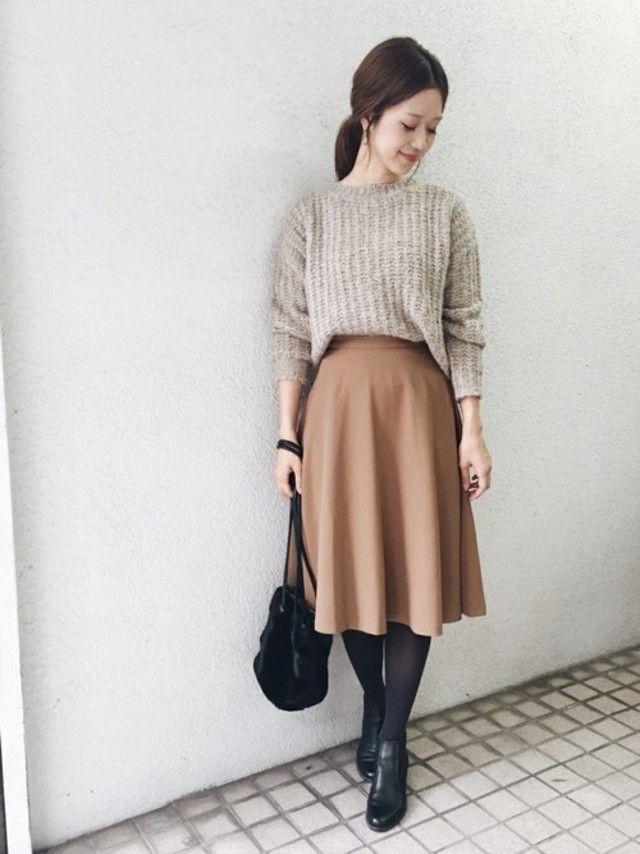 もっと細く見せたいタイトスカートとフレアスカートの着痩せテク