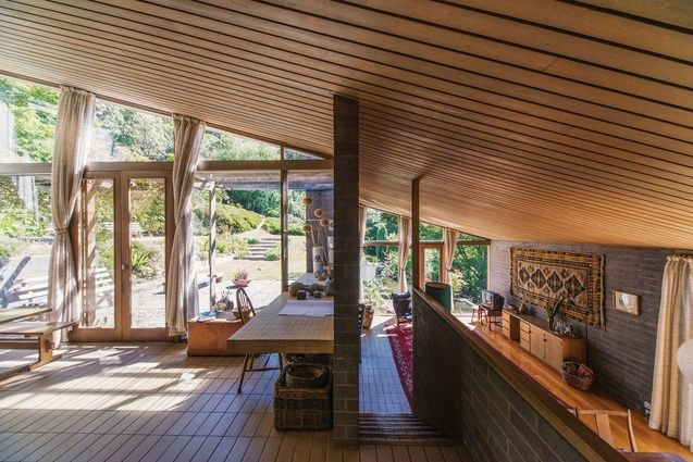 View from the kitchen. Fern Tree House (1969) Hobart, tas. by mcglashan everist