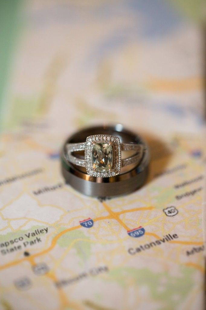 Wedding Rings On Map Of Raleigh NC