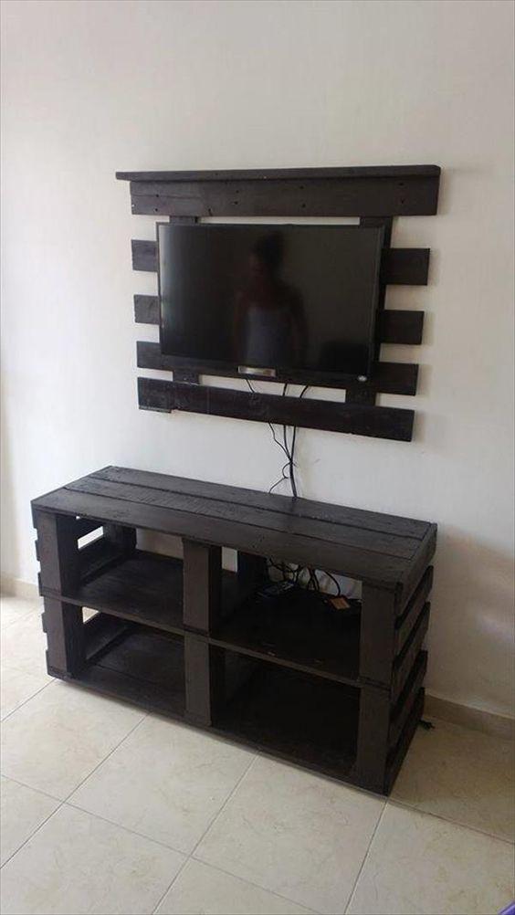 Mesa de tv hecho con pallet: