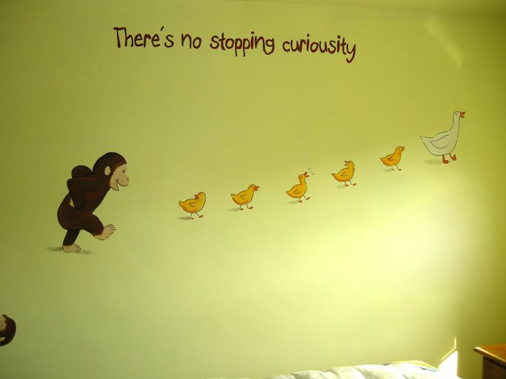curious george furniture | curious george mural 1 4 this curious george themed room was for a ...