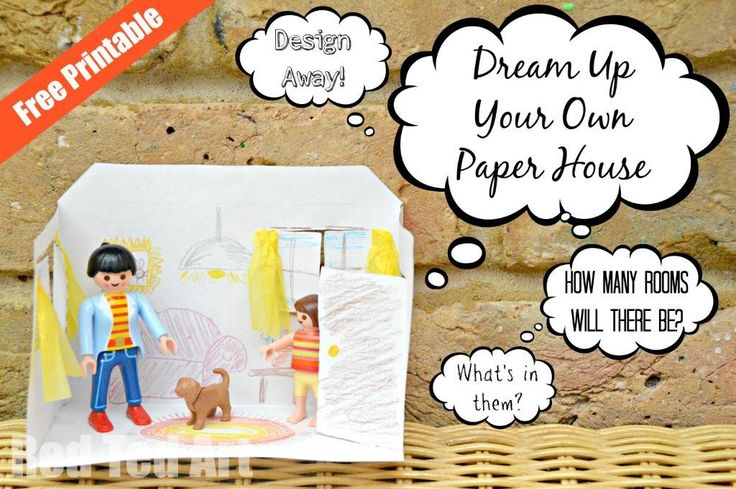 Design your own house! Simple printable to stimulate creativity and play! ENJOY! Includes Free Printable.