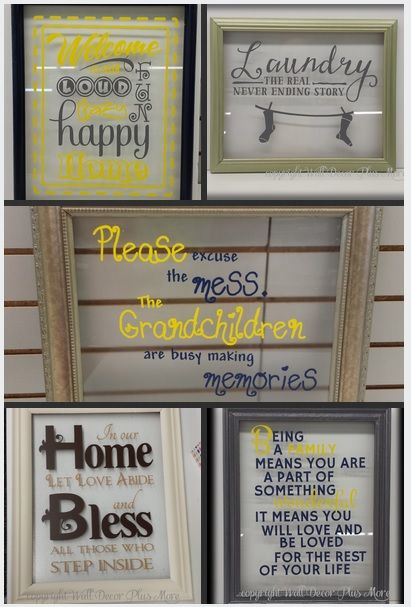 Amazing diy project 3 floating glass frames and your favorite vinyl decal