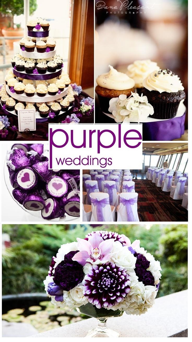 Purple wedding ideas. Cupcakes are a fun twist to a wedding cake
