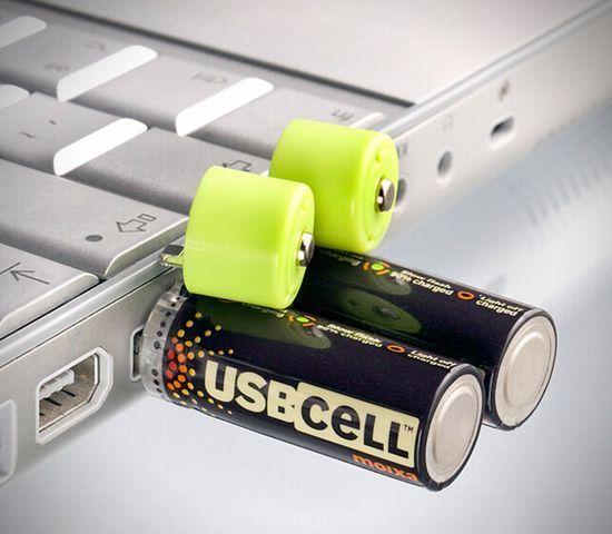 USBポートで充電できる乾電池。