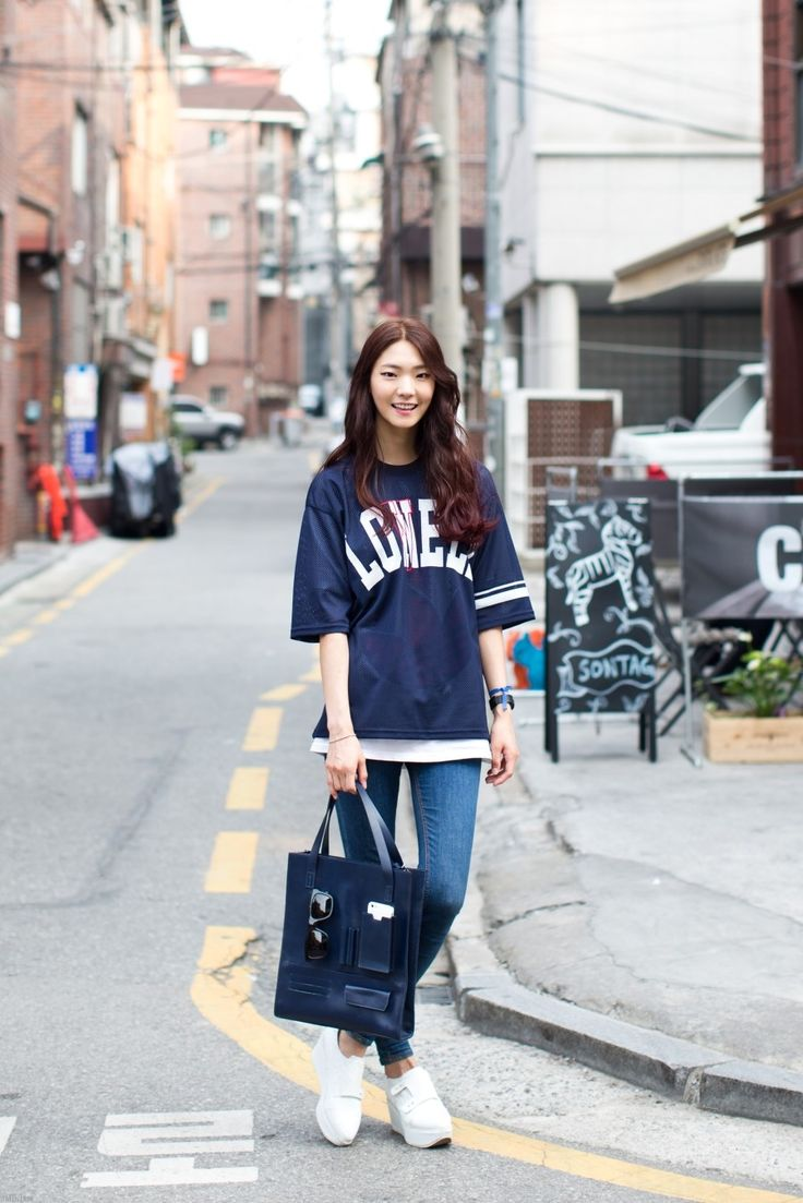 Asian Street Fashion K Fashion Style Pinterest Denim Pants Style And Shirts