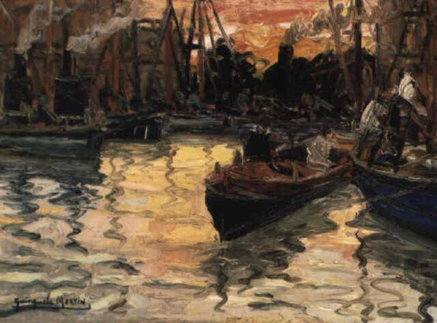 Crepúsculo (1920) Benito Quinquela Martín