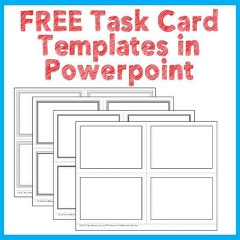 18 best free task card templates images on Pinterest Card patterns - free cards templates