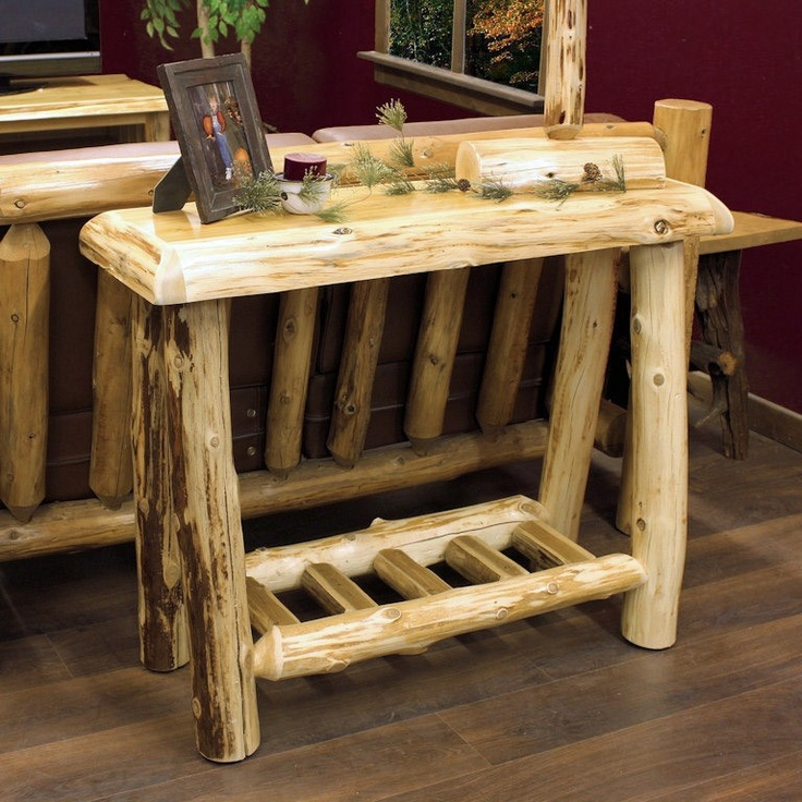 15 Best Images About Log Furniture On Pinterest Vanity
