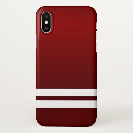 Cool Red White Racing Stripes iPhone X Case - tap to personalize and get yours