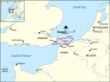 Dunkirk, May/June 1940  Map of the three evacuation routes