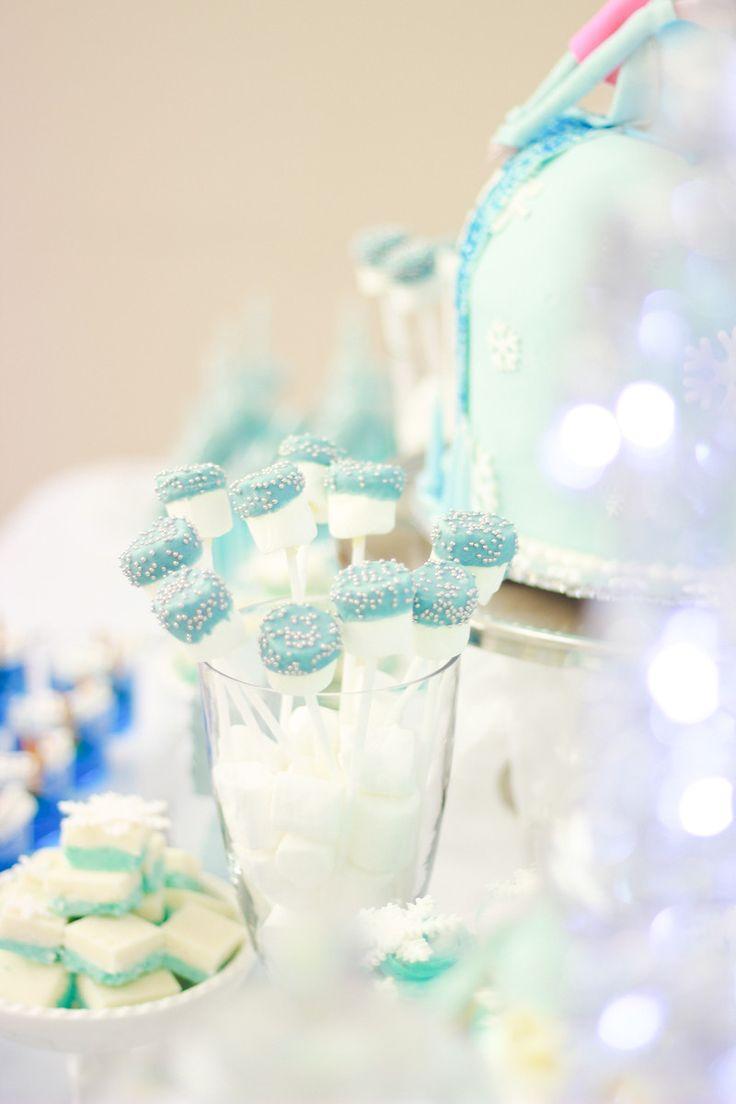 Frozen Theme - Huda Salman Photography #MarshmallowPops #Frozen