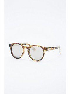 Le Specs Hey Macarena Mirror Lens Sunglasses in Tortoiseshell