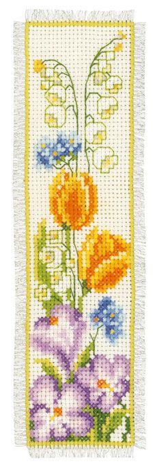 Marcador: Tulipanes amarillos de Vervaco - Marcadores - Kits Bordado - Casa Cenina