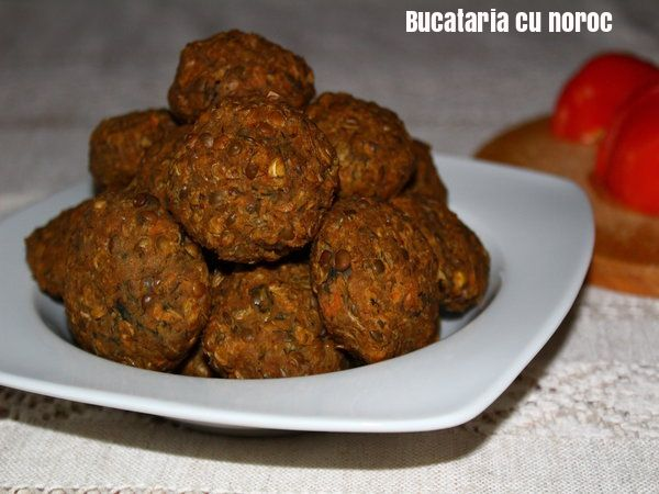 Chiftele de linte la cuptor - Bucataria cu noroc