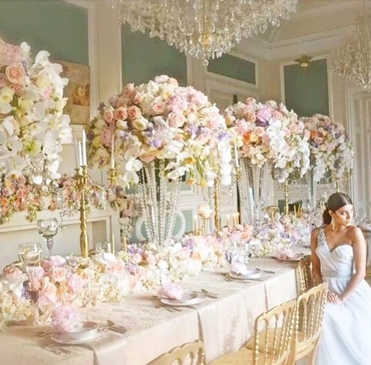 269 best wedding centrepieces images on pinterest for Wedding reception centrepieces