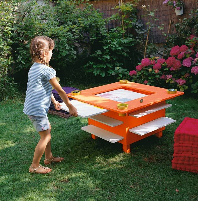 Outdoor Game Table! (website in french)  Fabriquer une table de jeux
