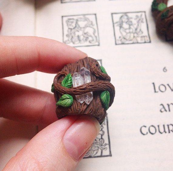 Clear Quartz Point Dreadlock Bead  Hippie Fairy by GaiasMysticGems