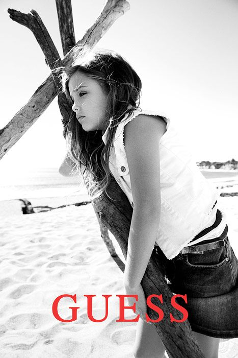 """Dannielynn has the same playful spirit that her mother had on a set,"" said Paul Marciano, Creative Director for GUESS?, Inc. in a press release. (The ads for the Spring 2013 campaign will appear on buses, billboards and more beginning in mid-January 2013.) Adds Marciano: ""She is a second-generation GUESS girl, which makes this campaign a first for us."""