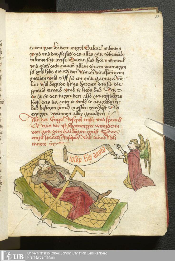 111 [53r] - Ms. germ. qu. 99 - Vita Jesu Christi in deutscher Bearbeitung - Page - Mittelalterliche Handschriften - Digitale Sammlungen Schwaben, [1472-76]