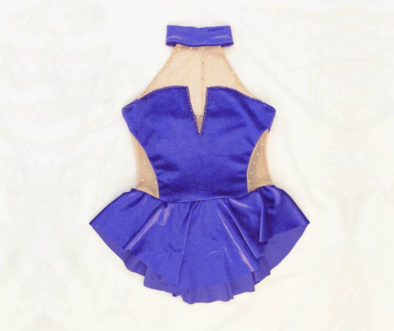 Body da Pattinaggio // Velluto blu // Su di DentelleSportswear