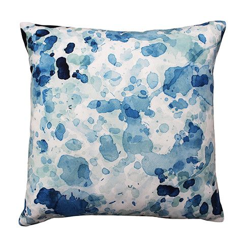Typhoon Blue Cushion 50 cm cotton hurricane rain drop mark