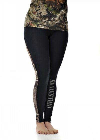 Girls With Guns Clothing Running Pants - Black/Mossy Oak Break Up Country®