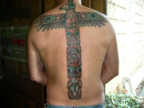 back totem pole tattoo 25 Awesome Totem Pole Tattoo Ideas
