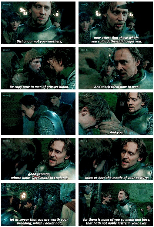 Tom Hiddleston, King Henry I cried during this. Amazing performance